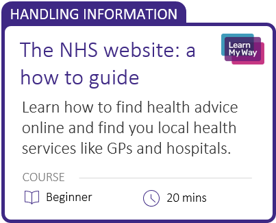 The NHS website: a how to guide