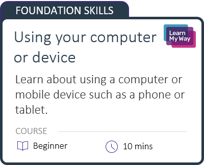 Using your computer or device